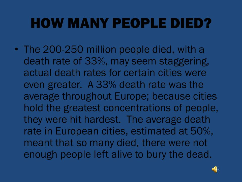 HOW MANY PEOPLE DIED