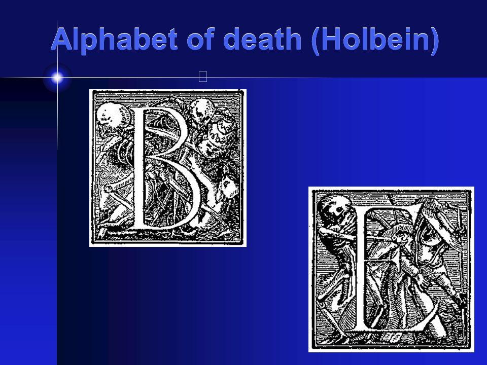 Alphabet of death (Holbein)