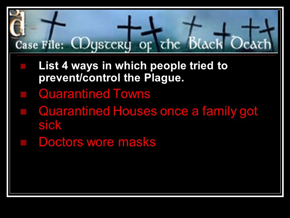 Quarantined Houses once a family got sick Doctors wore masks