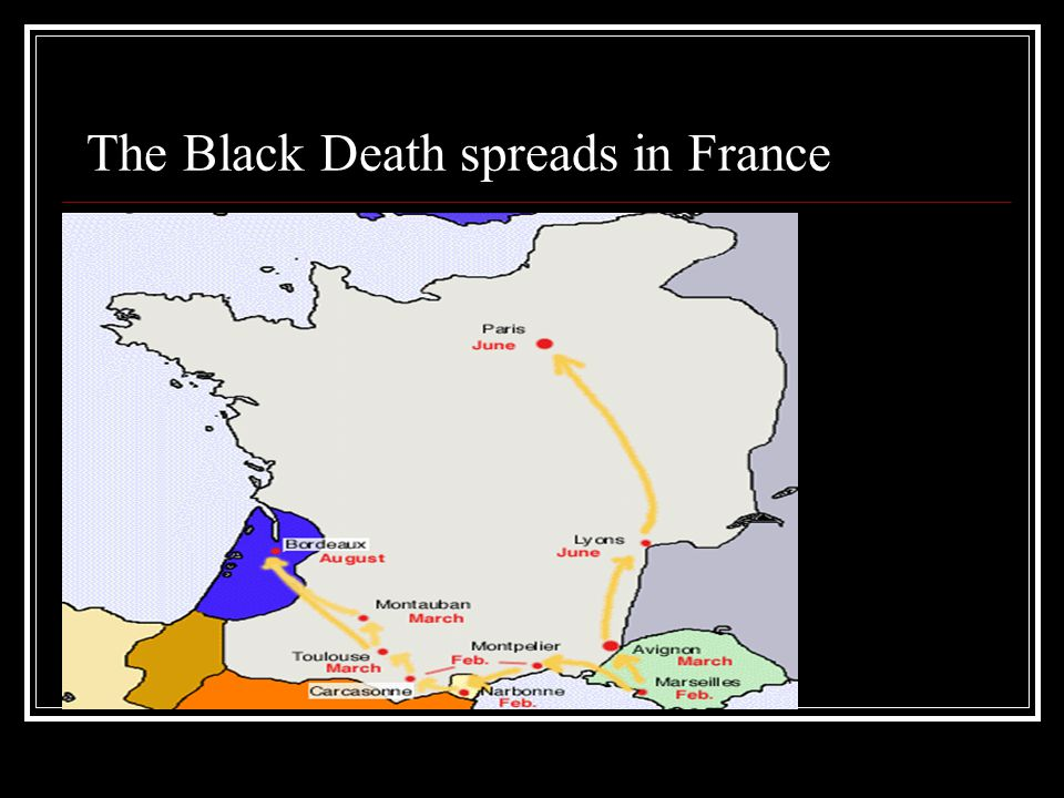 The Black Death spreads in France