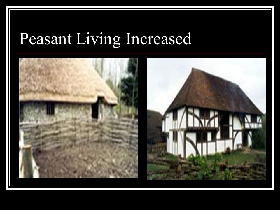 Peasant Living Increased