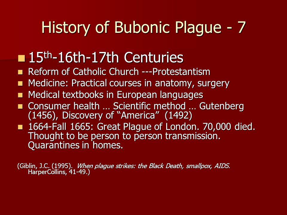 History of Bubonic Plague - 7