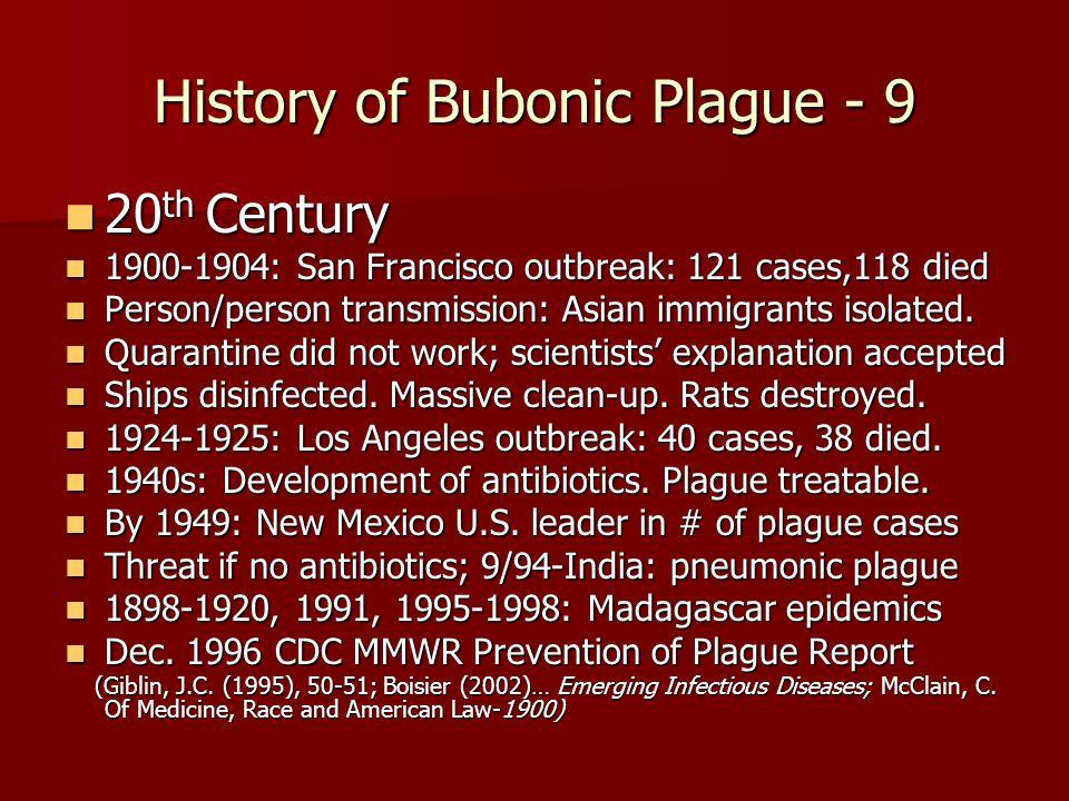 History of Bubonic Plague - 9