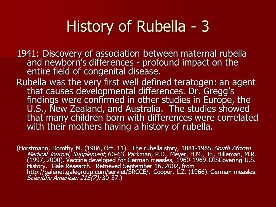 History of Rubella - 3