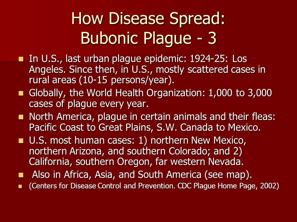 How Disease Spread: Bubonic Plague - 3