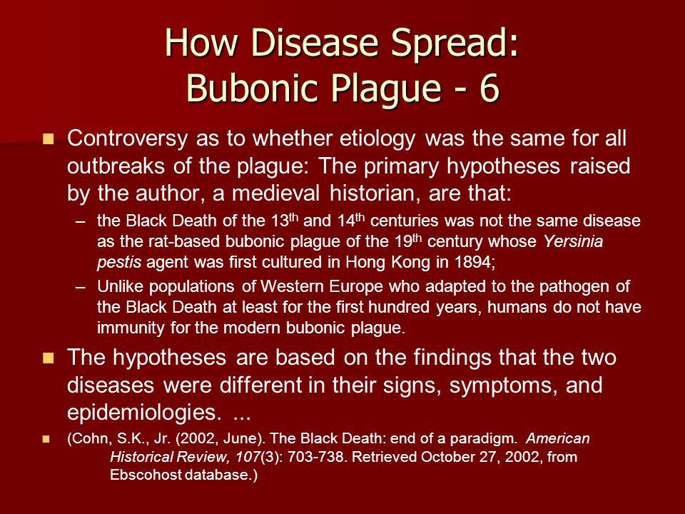 How Disease Spread: Bubonic Plague - 6