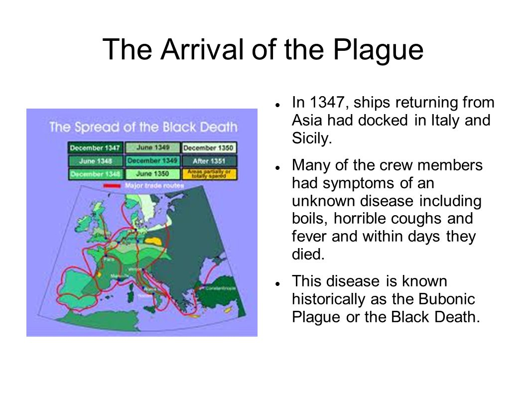 The Arrival of the Plague