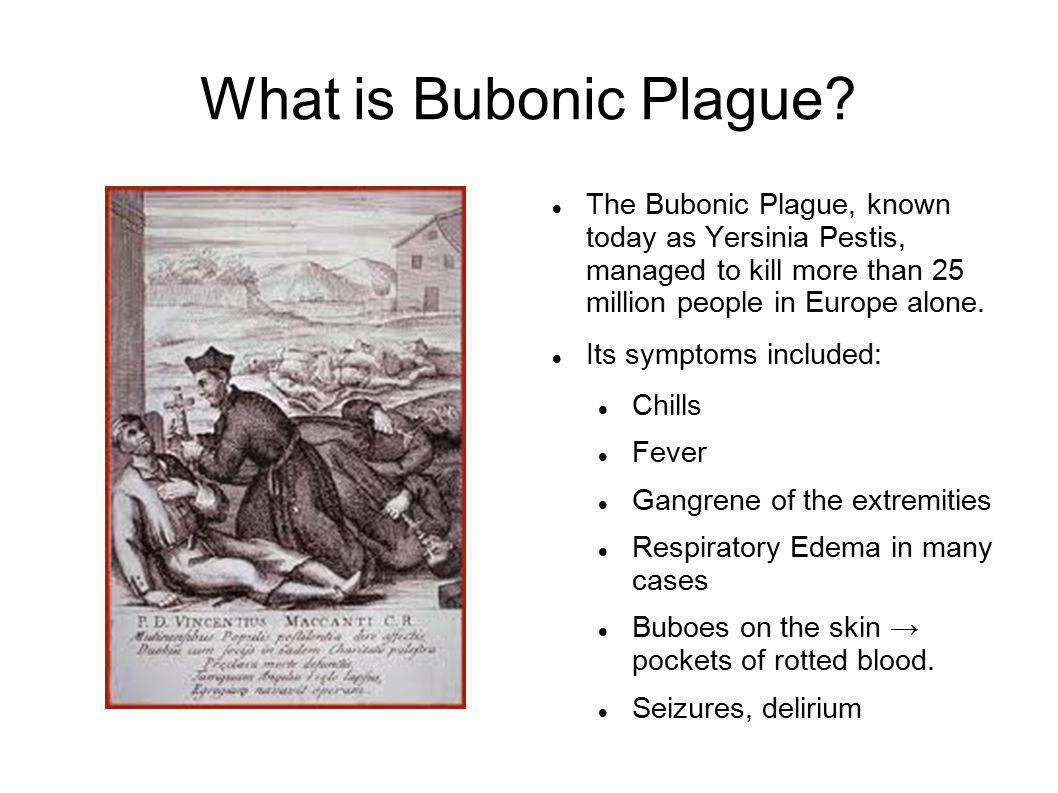 the bubonic plague The black death had three manifestations -- bubonic plague, pneumonic plague, and septicaemic plague the bubonic plague had a thirty to seventy-five percent mortality rate this manifestation of the disease was characterized by the characteristic swelling of lymph nodes (buboes) along the neck, armpits, and groin.