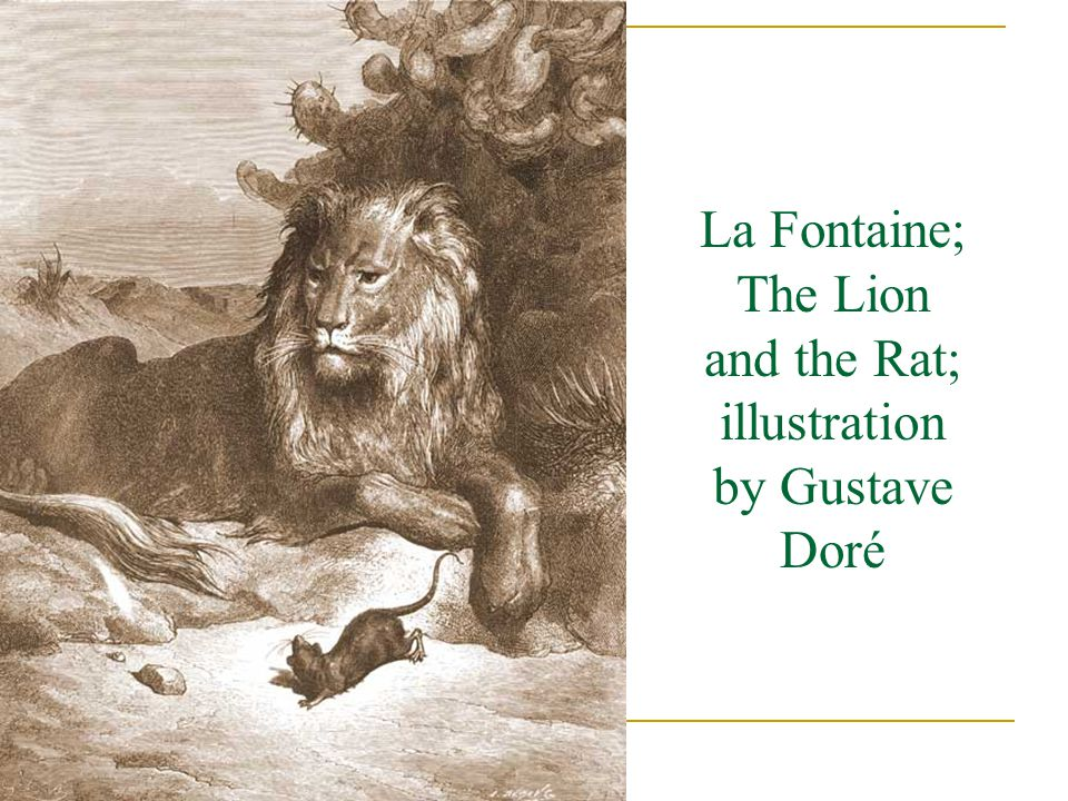 La Fontaine; The Lion and the Rat; illustration by Gustave Doré