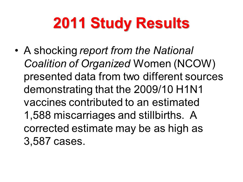 2011 Study Results