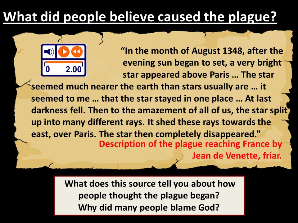 What did people believe caused the plague