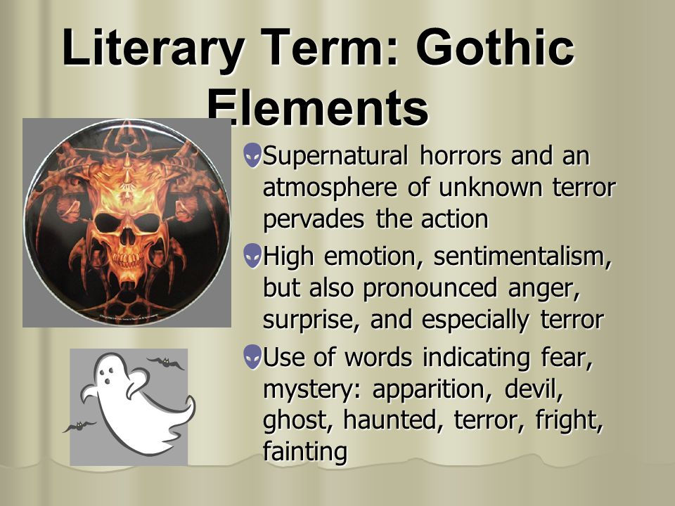 Literary Term: Gothic Elements