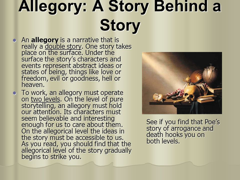 Allegory: A Story Behind a Story