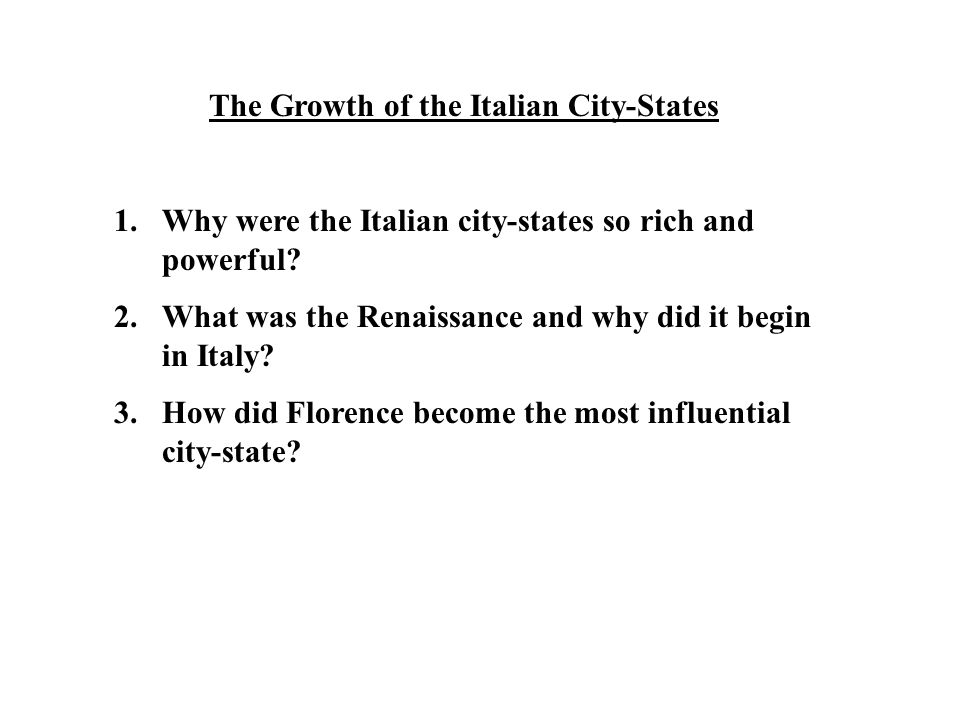 The Growth of the Italian City-States