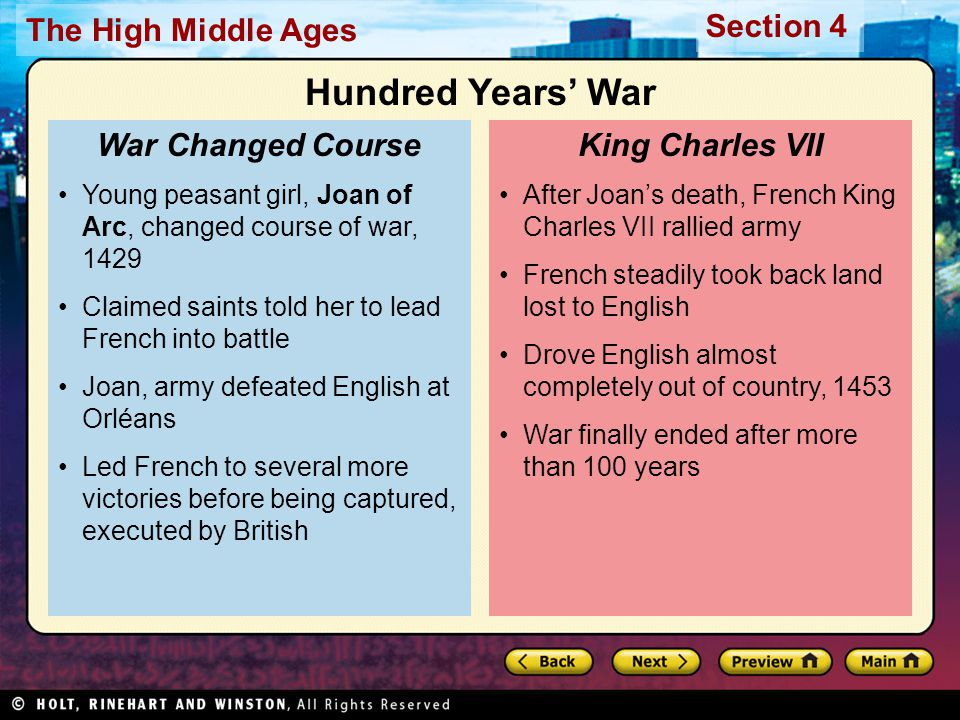 Hundred Years' War War Changed Course King Charles VII