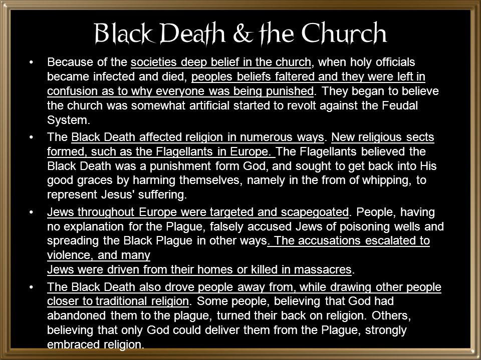 Black Death & the Church
