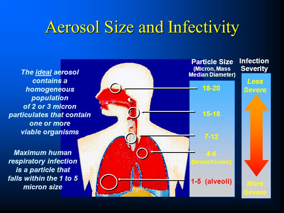 Aerosol Size and Infectivity
