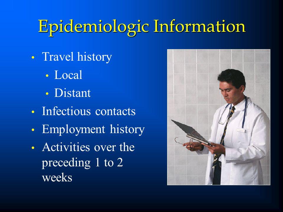 Epidemiologic Information