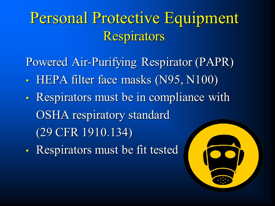 Personal Protective Equipment Respirators