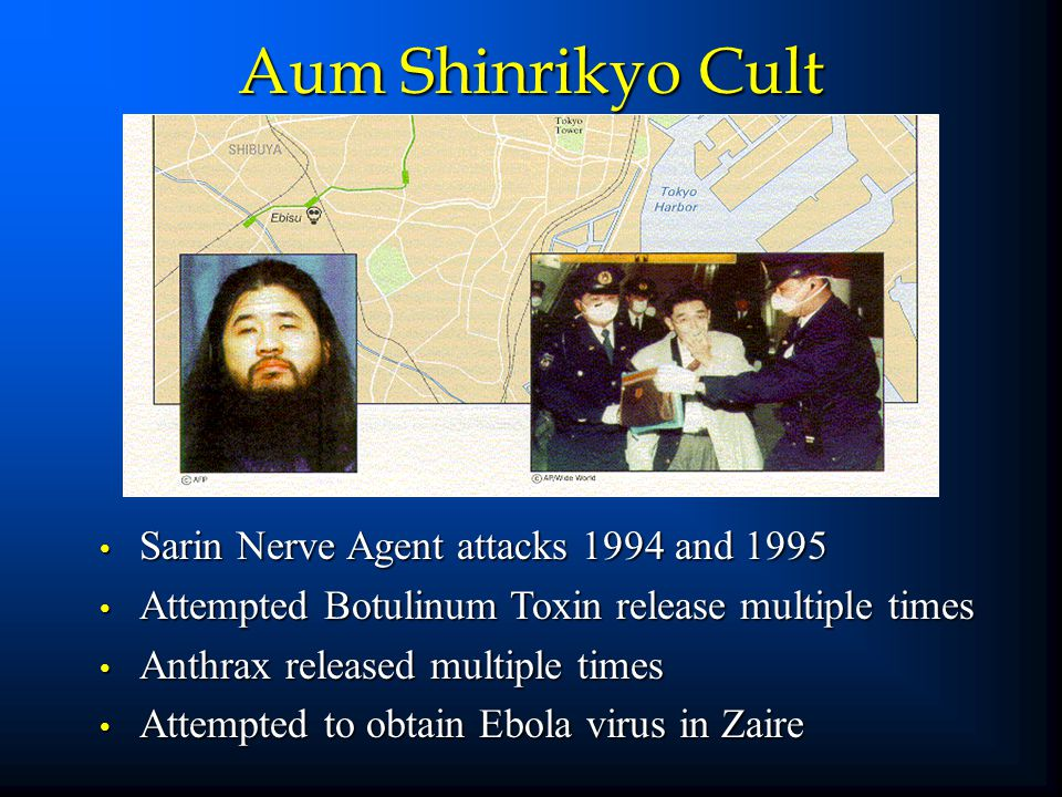 Aum Shinrikyo Cult Sarin Nerve Agent attacks 1994 and 1995