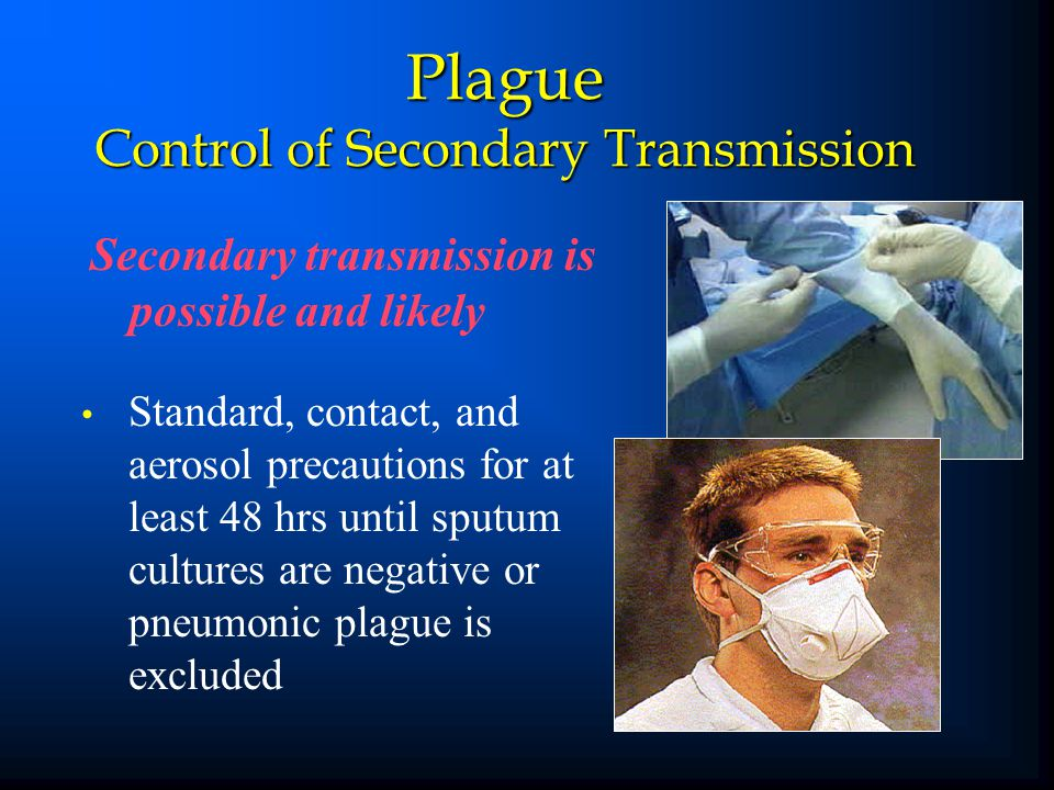 Plague Control of Secondary Transmission