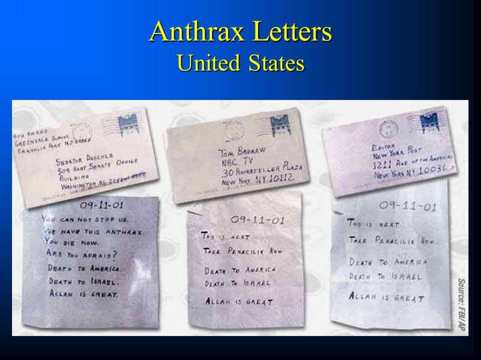 Anthrax Letters United States