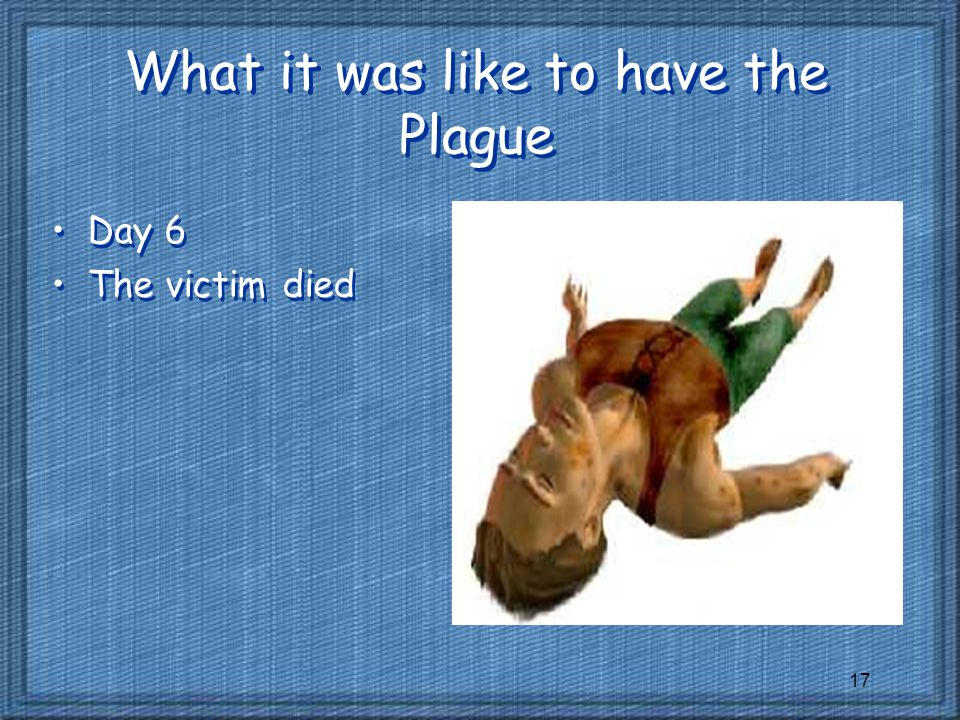 What it was like to have the Plague