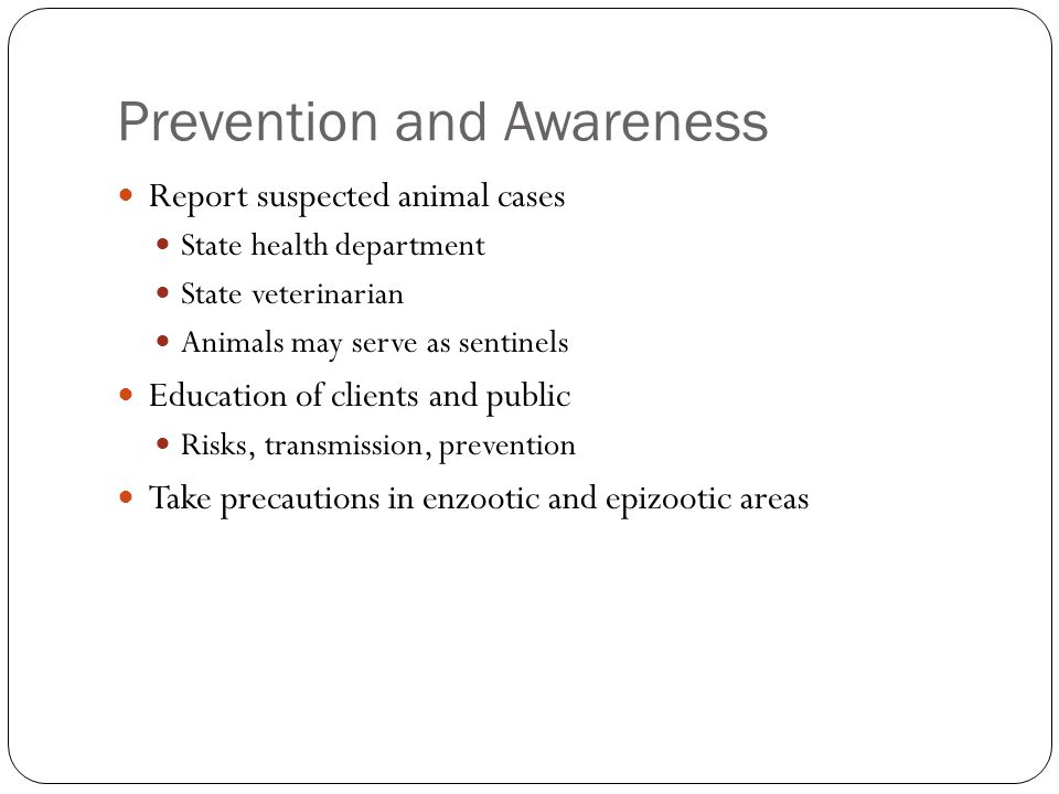 Prevention and Awareness