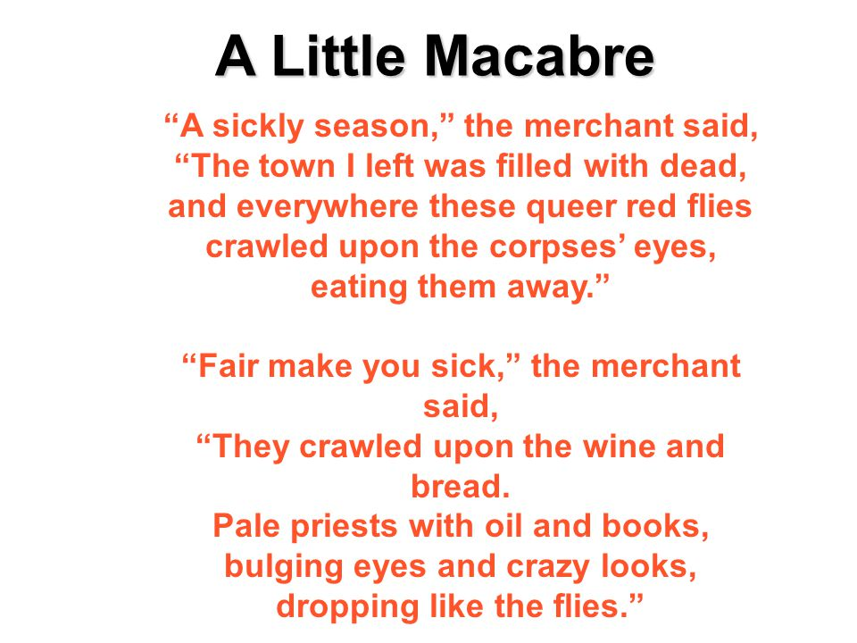 A Little Macabre