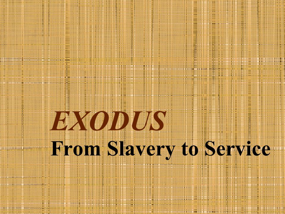From Slavery to Service