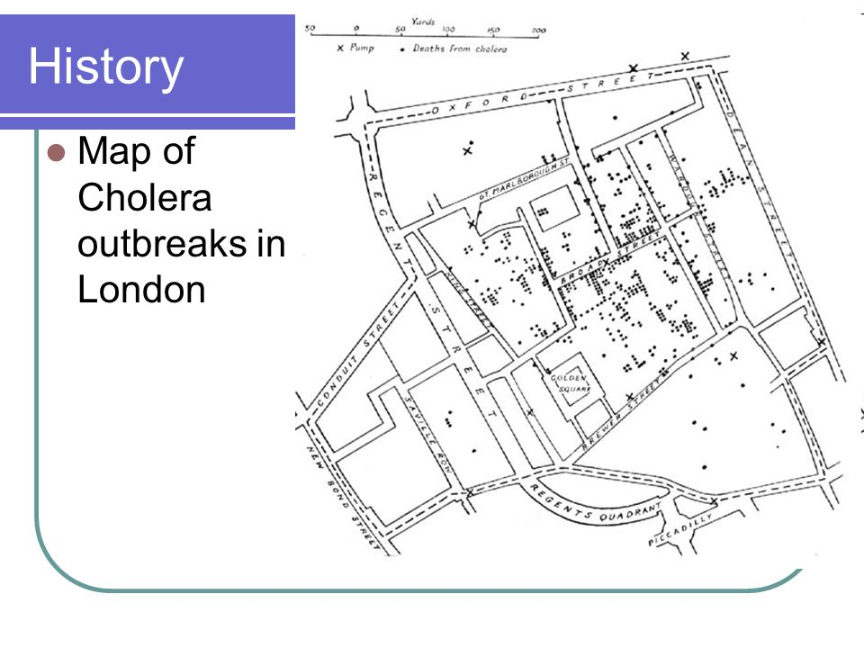 History Map of Cholera outbreaks in London
