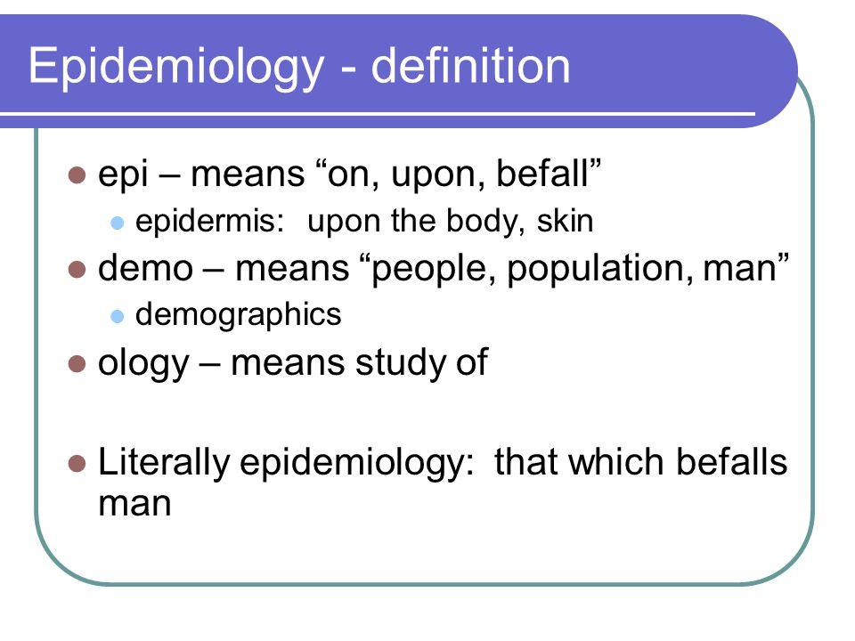 Dictionary definition study population