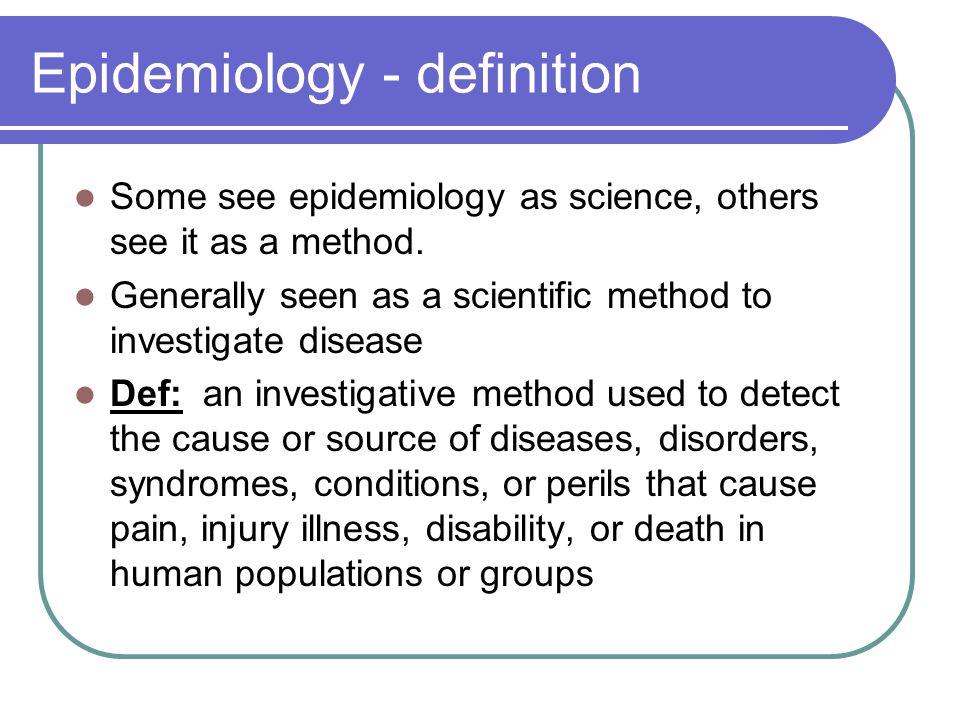 Epidemiology - definition