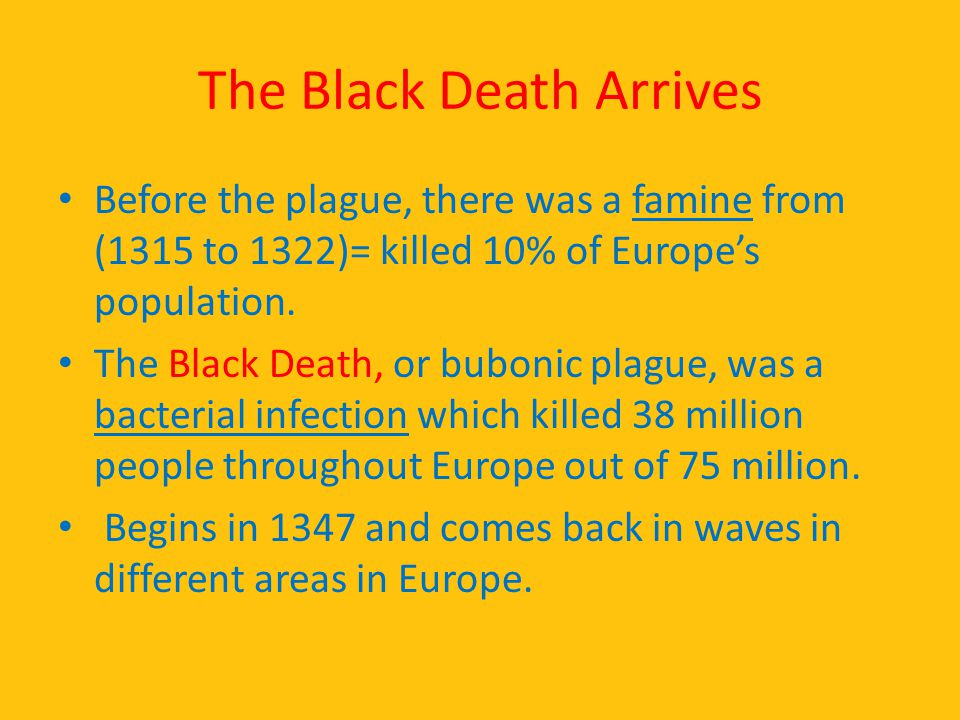 The Black Death Arrives
