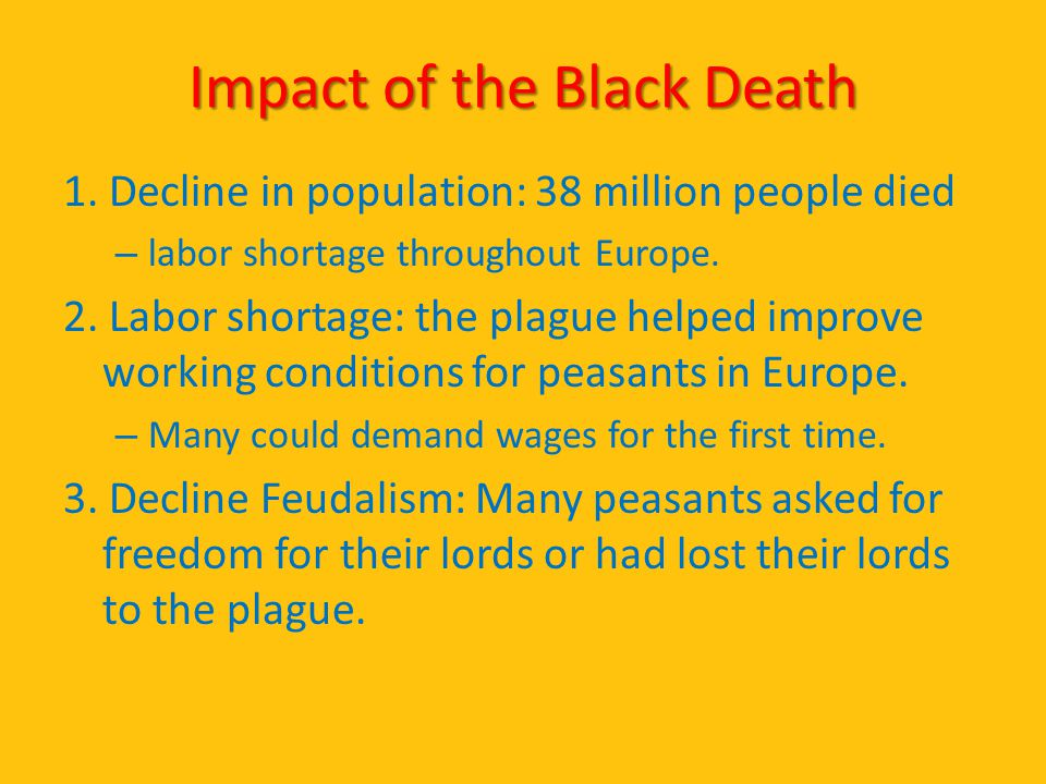 Impact of the Black Death