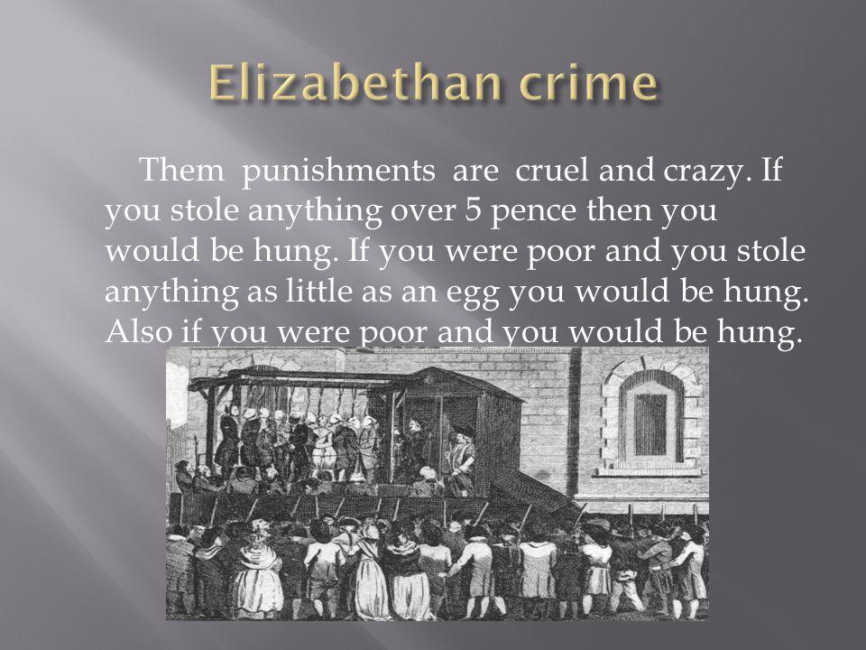 Elizabethan crime
