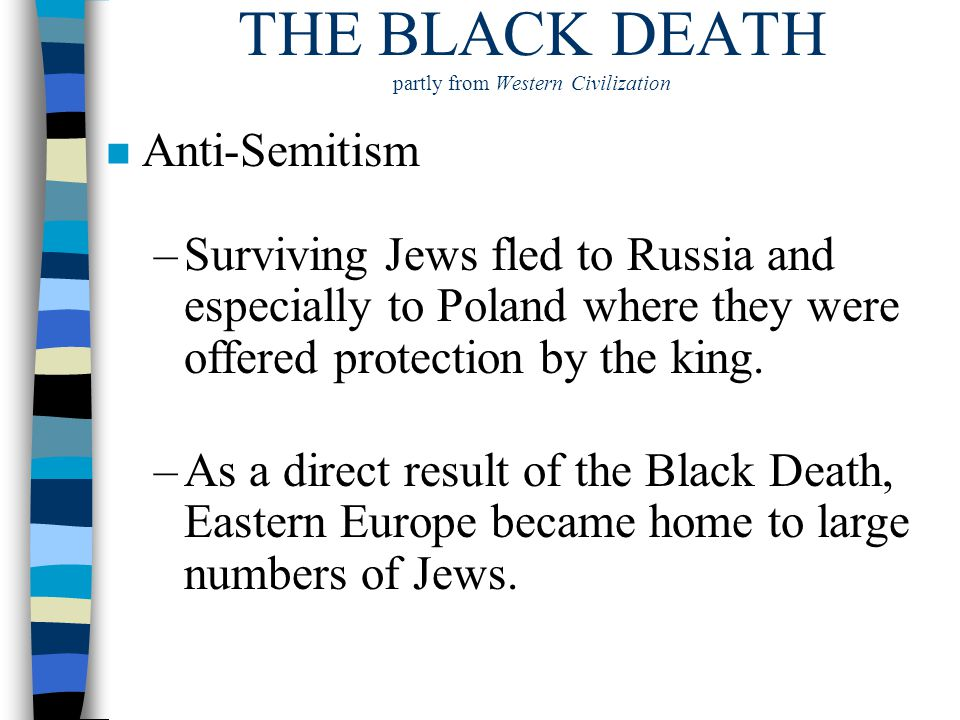 THE BLACK DEATH partly from Western Civilization