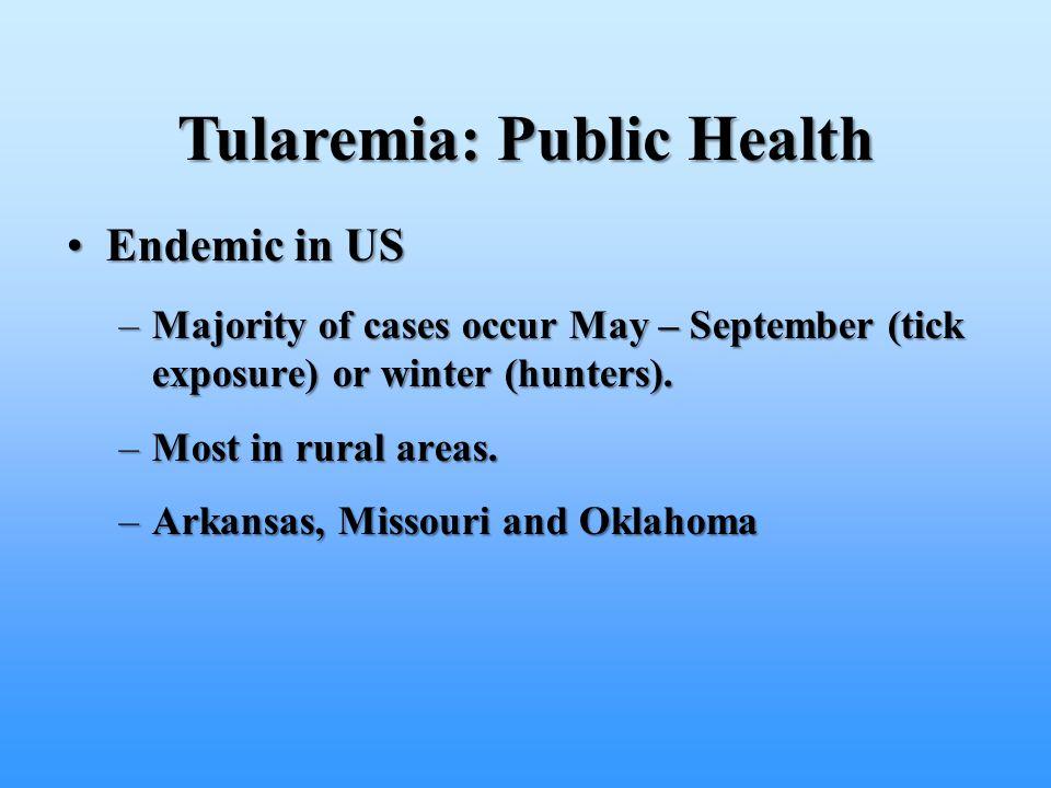 Tularemia: Public Health
