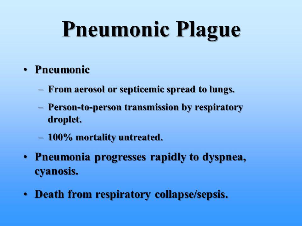 Pneumonic Plague Pneumonic