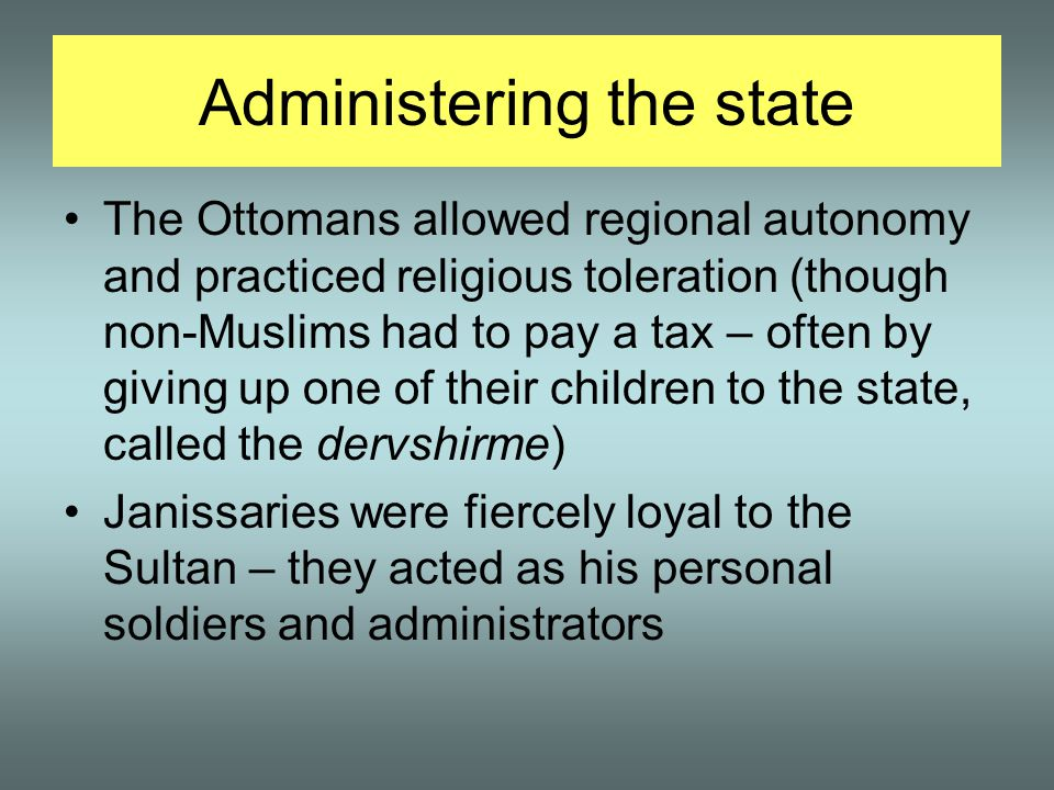 Administering the state