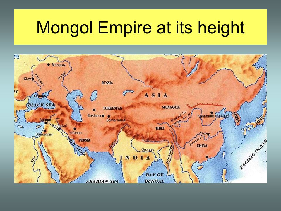 Mongol Empire at its height