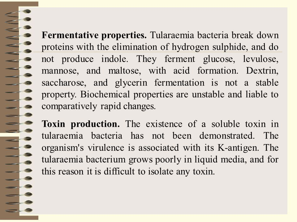 Fermentative properties