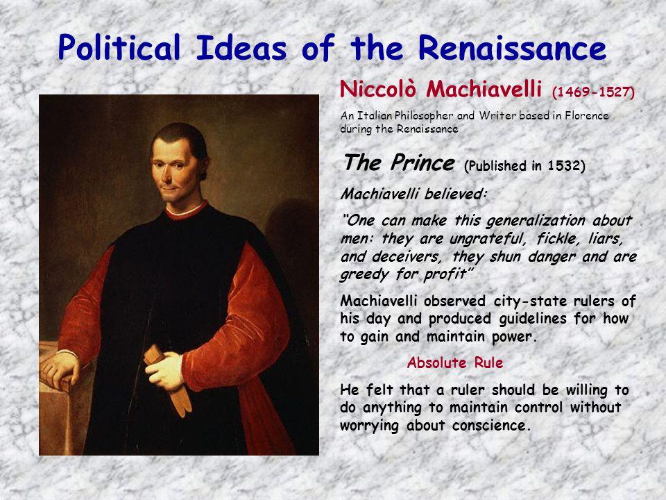 Political Ideas of the Renaissance
