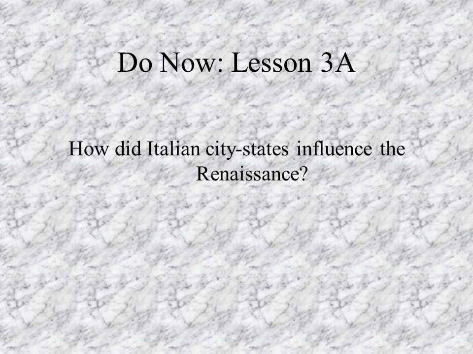 How did Italian city-states influence the Renaissance
