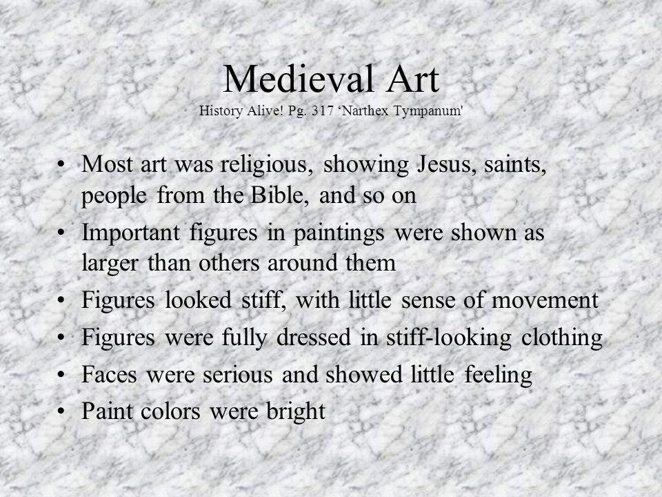 Medieval Art History Alive! Pg. 317 'Narthex Tympanum
