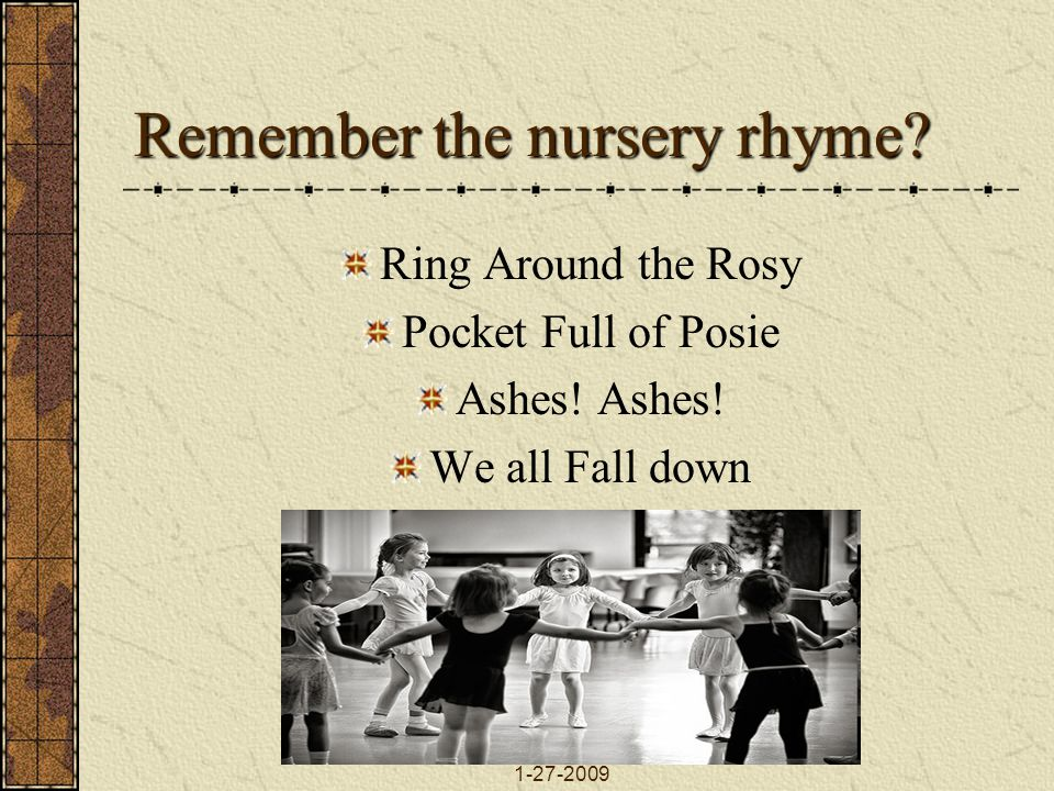 Remember the nursery rhyme