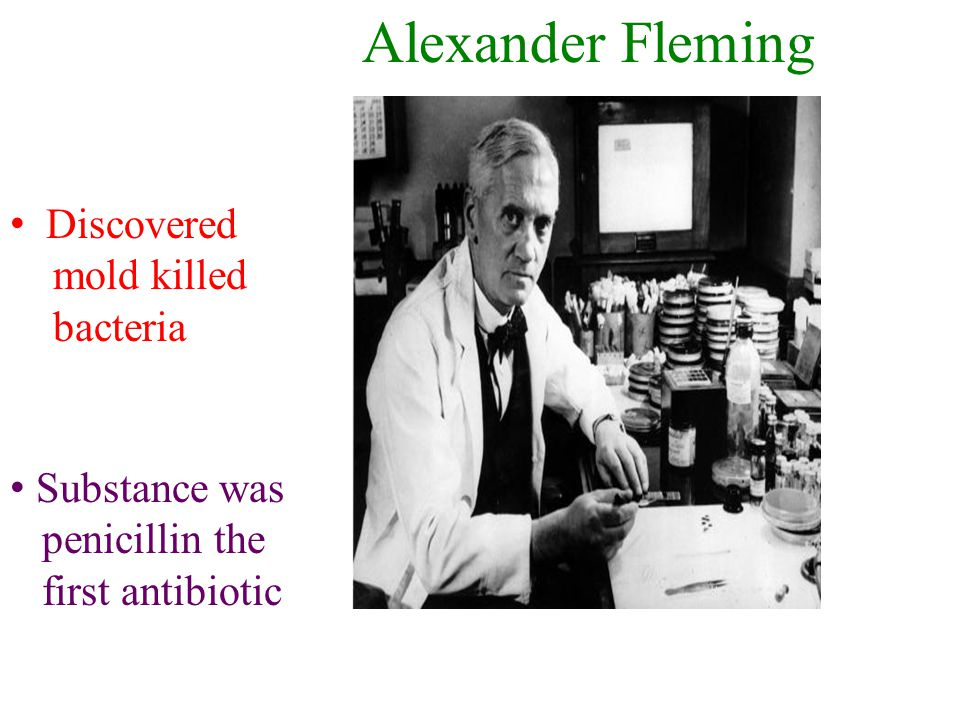 Alexander Fleming Discovered mold killed bacteria Substance was