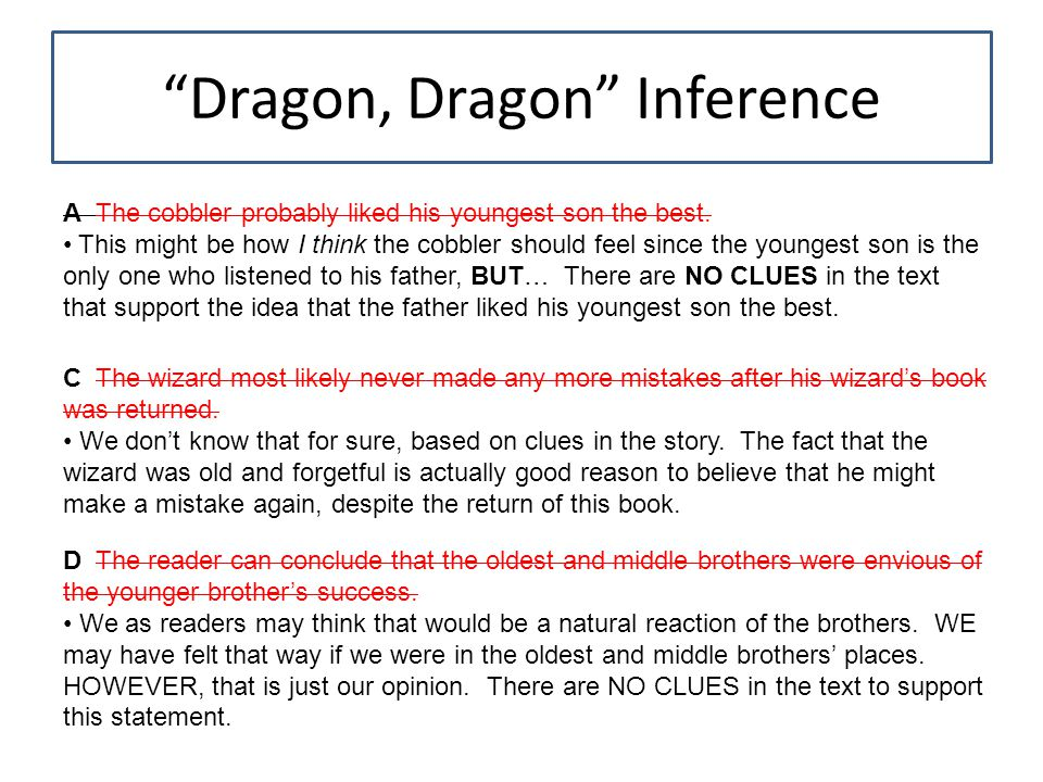 Dragon, Dragon Inference