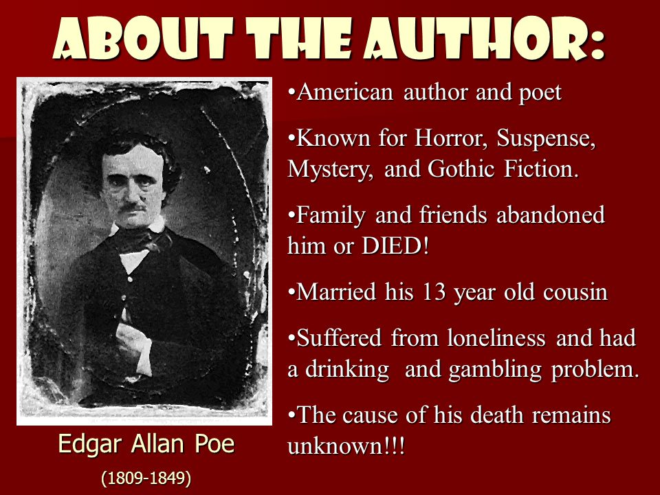 ABOUT THE AUTHOR: American author and poet