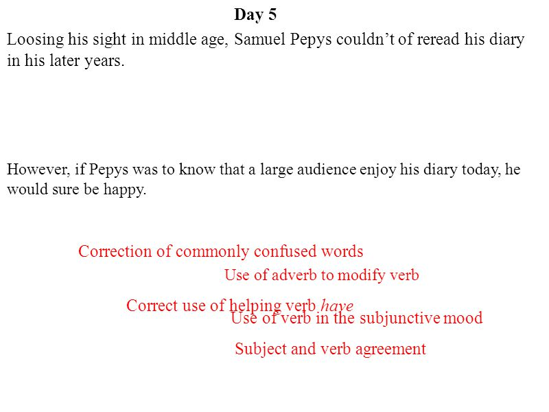 Correction of commonly confused words